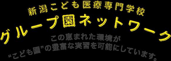 """新潟こども医療専門学校グループ園ネットワーク この恵まれた環境が""""こども園""""の豊富な実習を可能にしています。"""